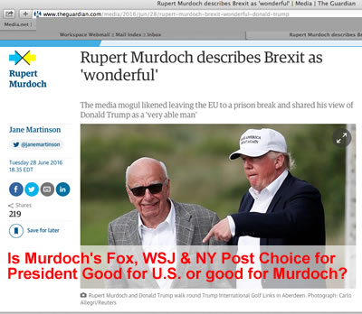 Did Murdoch Make Trump the Republican Nominee & Has he Kept Him in the 2016 Presidential Race in Spite of Handicaps | rupert murdoch propaganda machine political puppets rupert murdoch keeps trump contender public policy rupert murdoch betrays republicans conservatives
