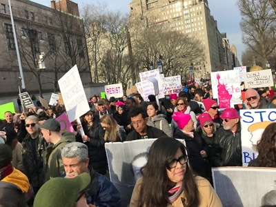manhattan womens march 2018 photos