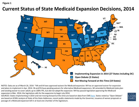 affordable care act states medicaid expansion states graphic