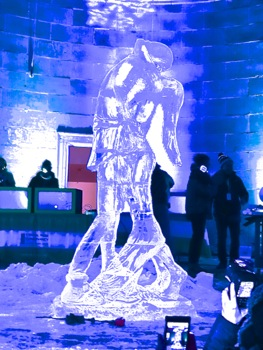 central park ice festival photos