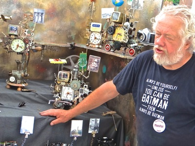 richard burkitt fantasy clocks photos washington square art fair