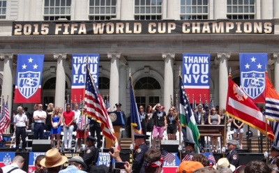 womens world cup champion ticker tape parade nyc 2015