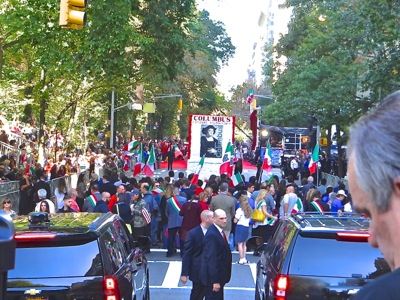 upper east side neighborhood video & photos columbus day parade nyc